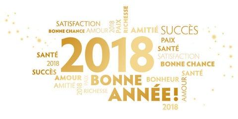 Nouvelle année  2018, les vœux de la présidente