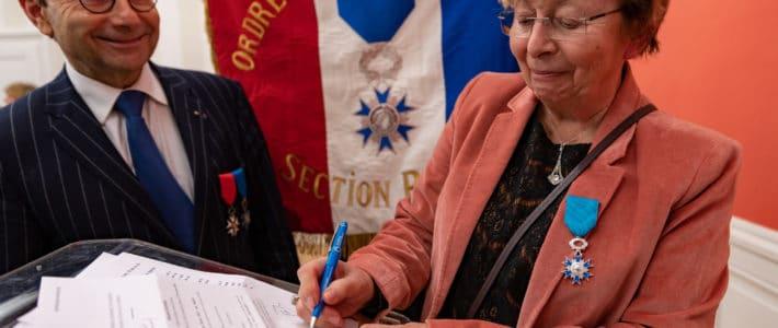 Nicole Galy, fondatrice d'Horizon Parrainage, chevalier de l'Ordre National du Mérite