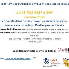 Web conférence : « Créer des liens familiaux avec les enfants délaissés avec et sans l'adoption : Quelles perspectives? »